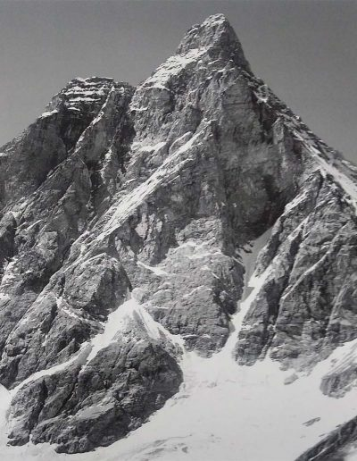 The south face of the Matterhorn