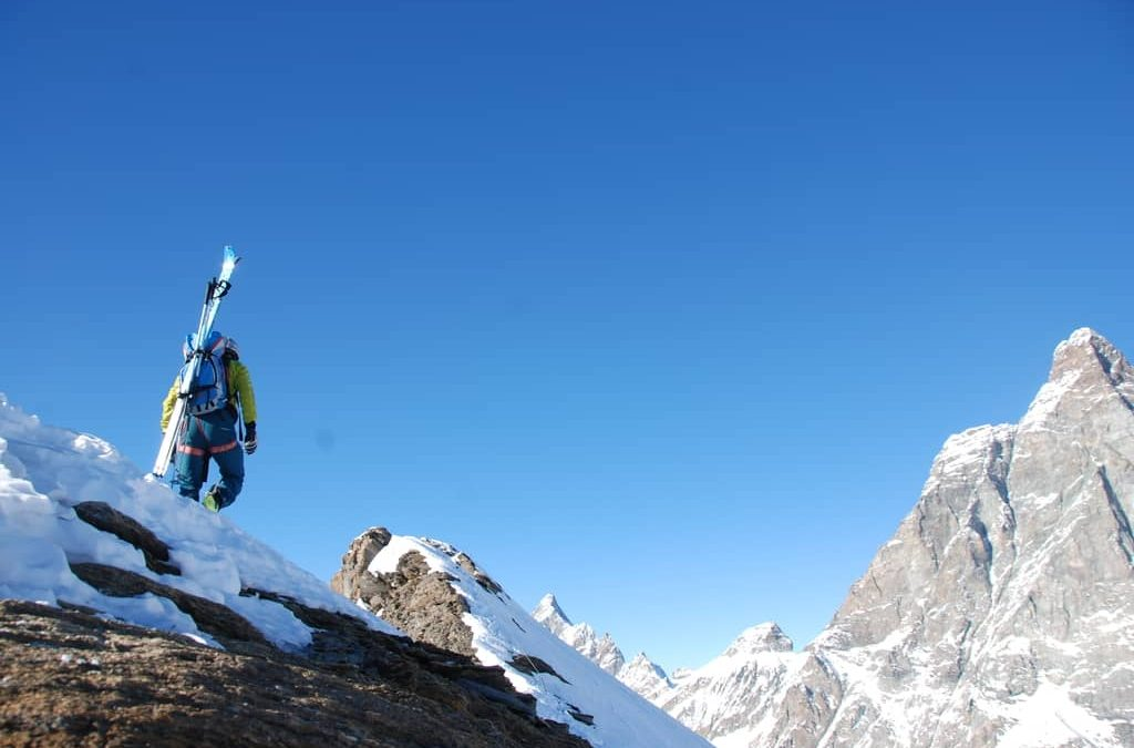La traversée du Furggen en ski