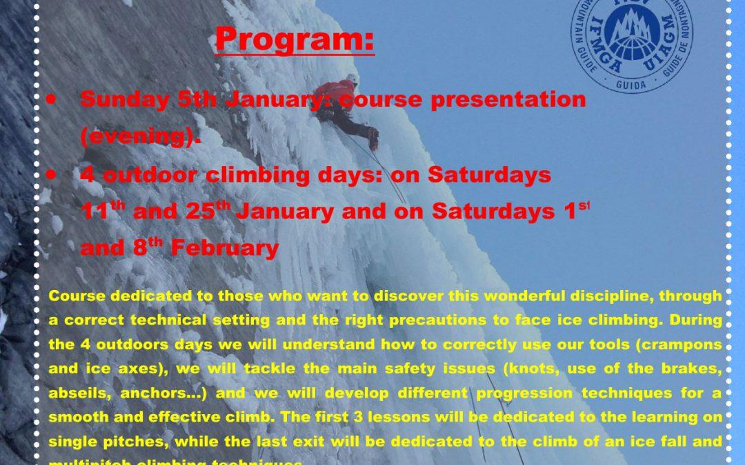 ICE CLIMBING COURSE january/february 2020