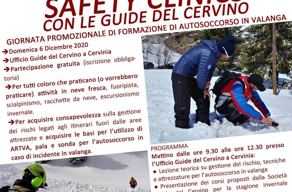 Giornata di SAFETY CLINICS con le Guide del Cervino – rimandata a data da destinarsi