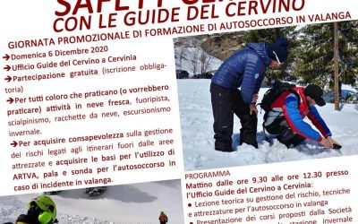 Giornata di SAFETY CLINICS con le Guide del Cervino – rimandata a data da destinarsi