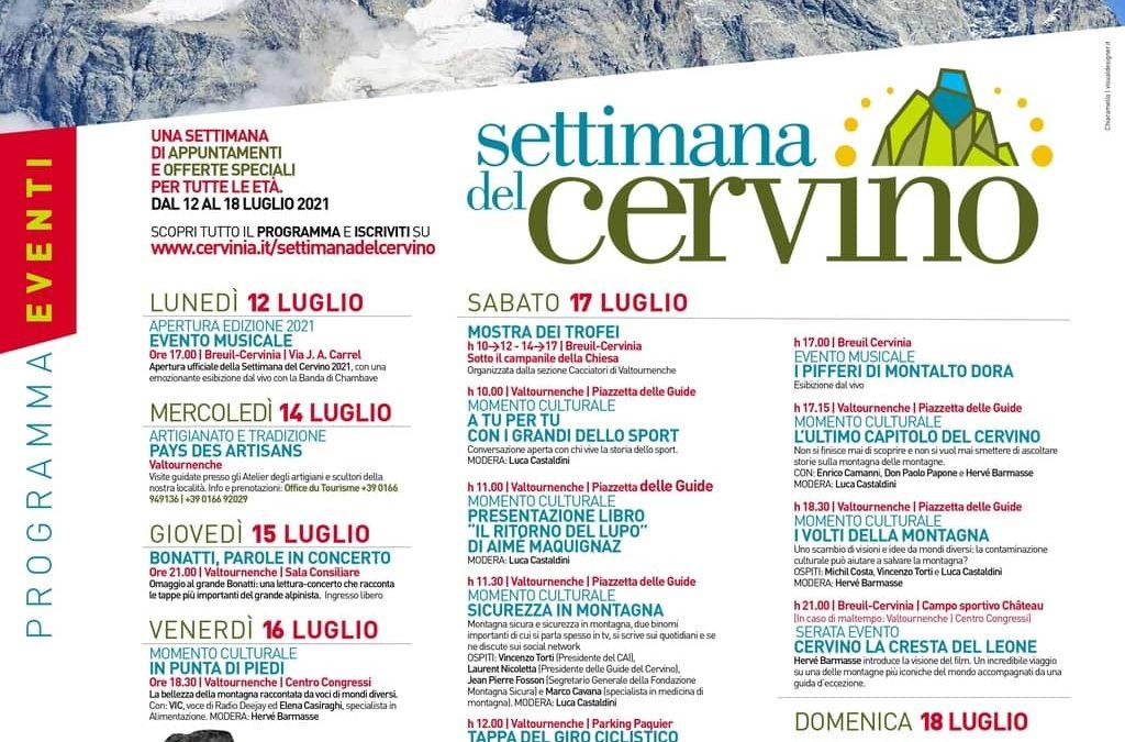 SETTIMANA DEL CERVINO 12 – 18 LUGLIO 2021